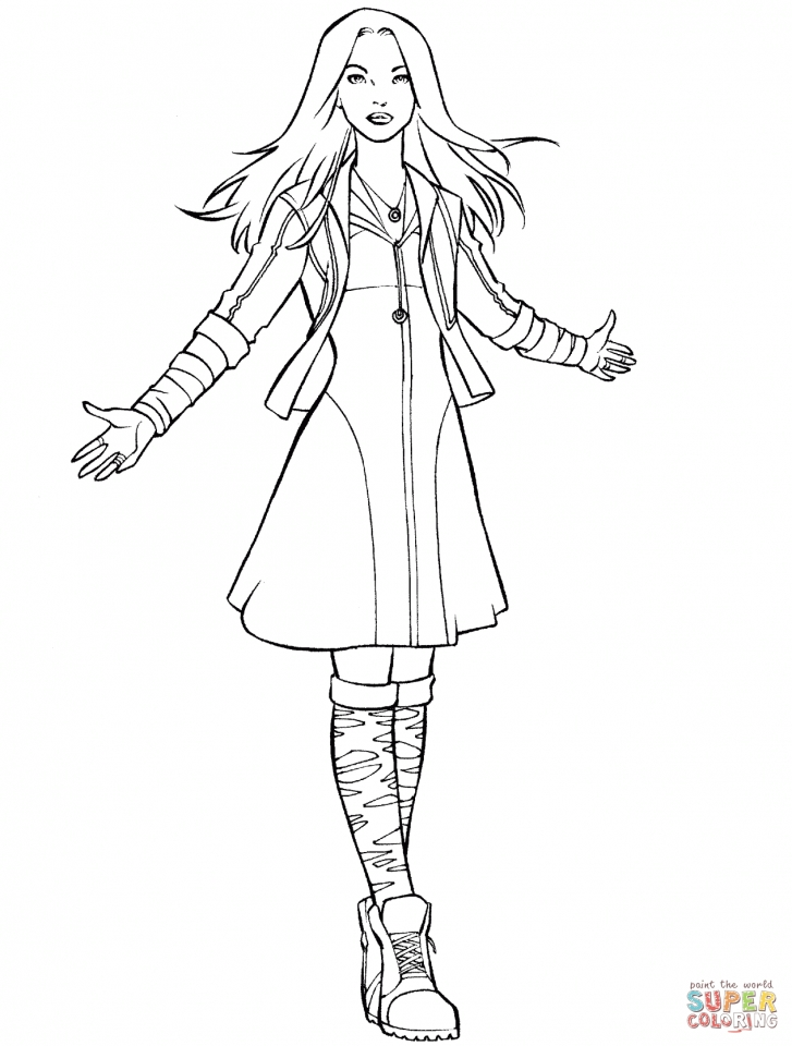 Avengers Coloring Pages Scarlet Witch   89431