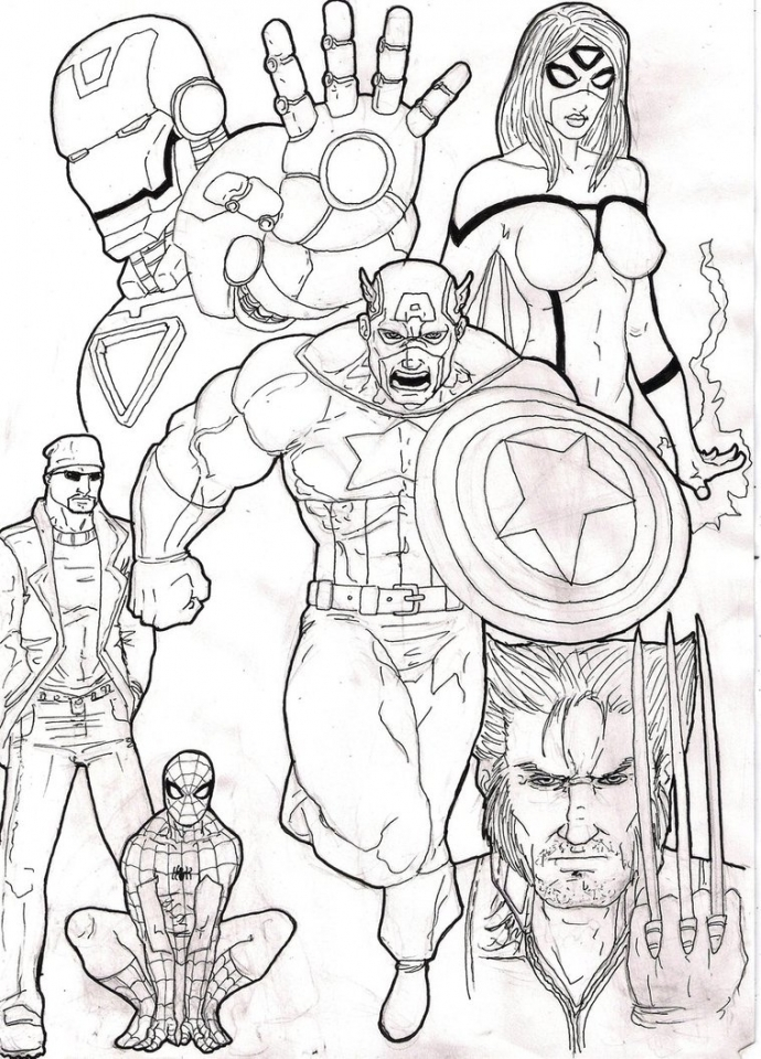 avengers coloring pages for boys - photo#14