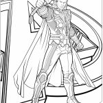 Avengers Coloring Pages Thor   07593