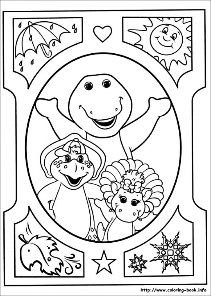 Barney and Friends Coloring Pages Free to Print   21748