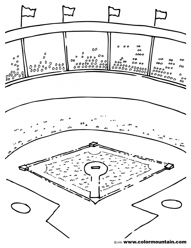 baseball field coloring pages printable 85732 - Baseball Coloring Pages Printable