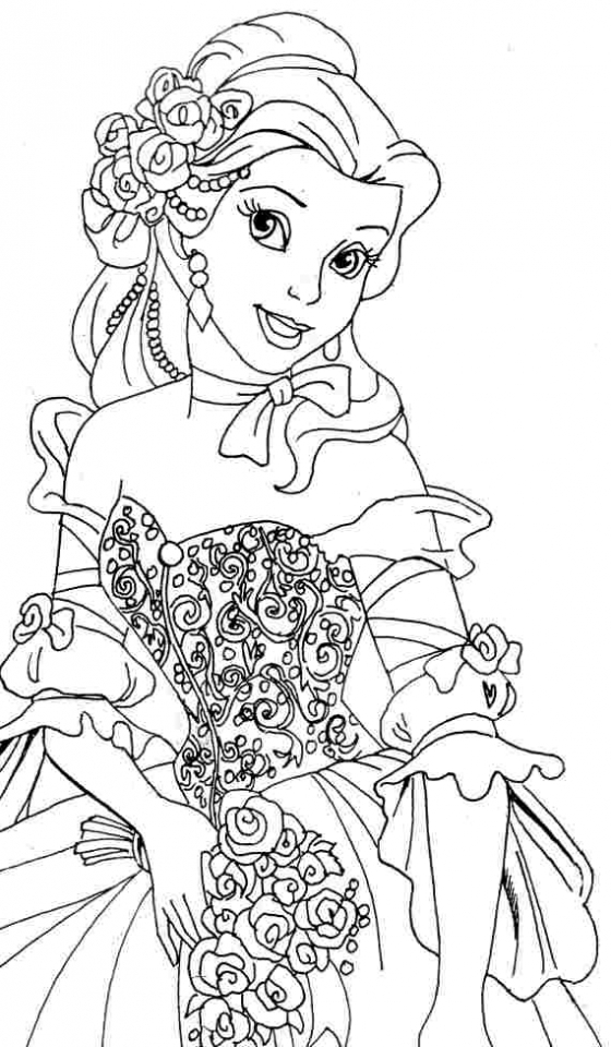 disney belle shoes coloring pages - photo#36