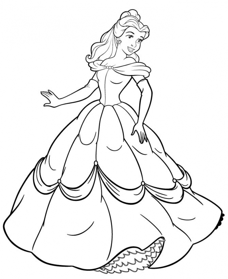 Belle Coloring Pages Printable   26184