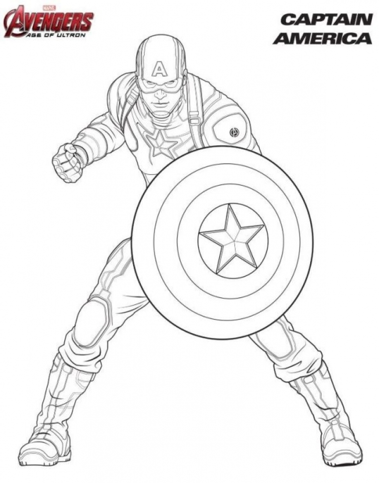 Captain America Coloring Pages Avengers Printable   75691