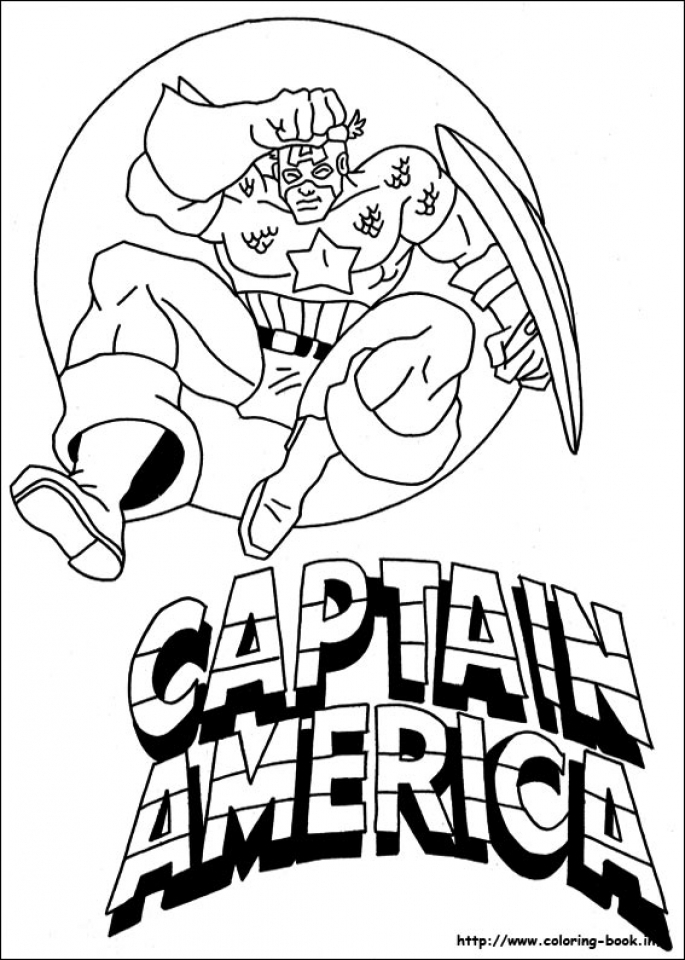 20 Free Printable Captain America Coloring Pages