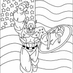 Captain America Coloring Pages Marvel Superhero   59621