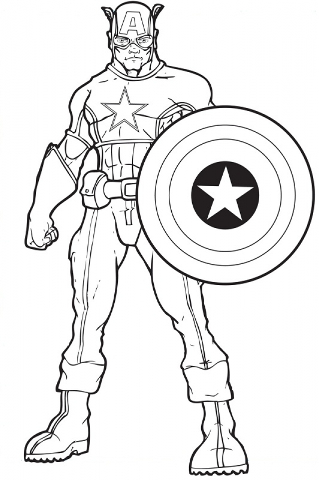 Captain America Coloring Pages Printable   47885