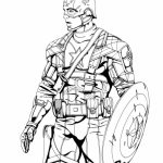 Captain America Coloring Pages Superheroes Printable for Kids   21546