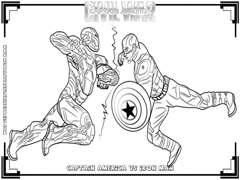 20+ Free Printable Captain America Coloring Pages - EverFreeColoring.com