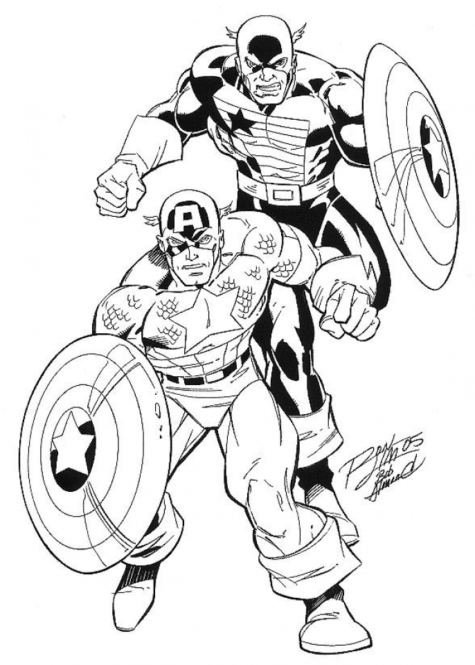 Captain America Coloring Pages Winter Soldier   40641