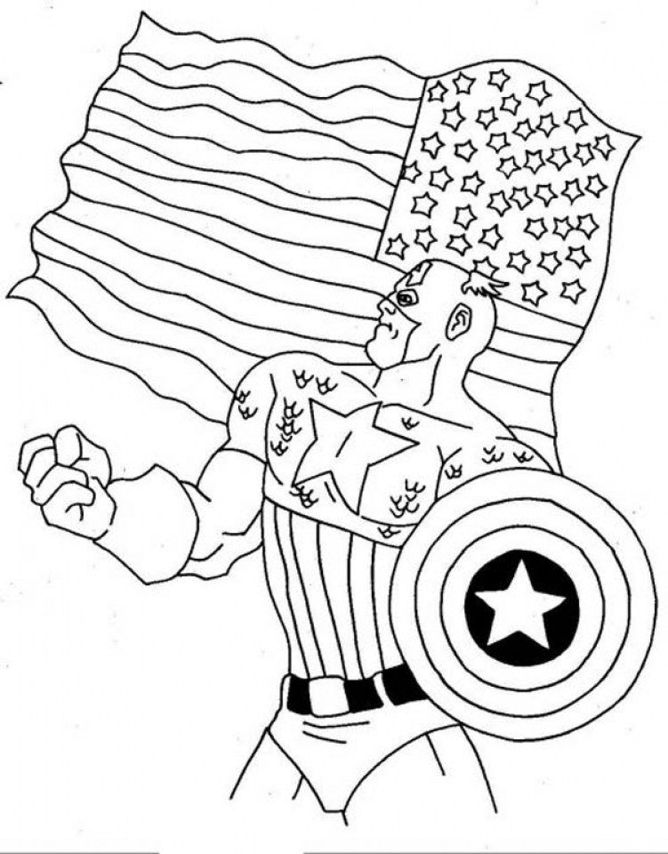 Captain America Coloring Pages Winter Soldier   90217