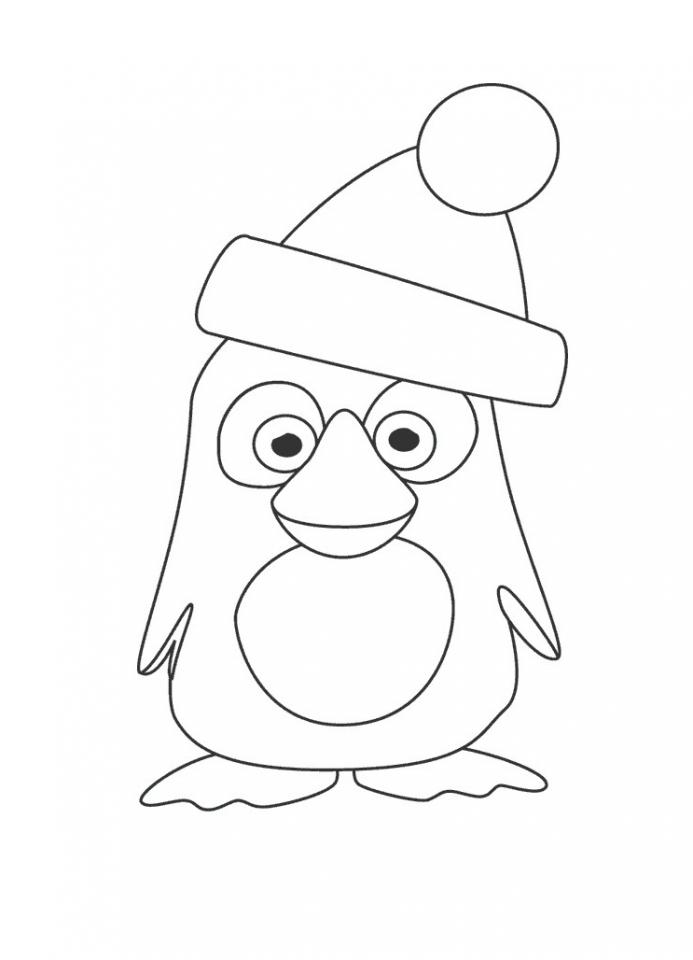 Get This Cartoon Penguin Coloring