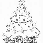 Christmas Tree Coloring Pages for Kids   590187