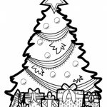 Christmas Tree Coloring Pages Free Printable   95813