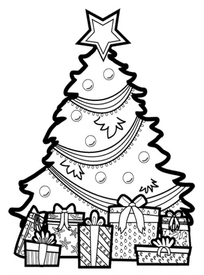 pile of presents under christmas trees coloring pages christmas