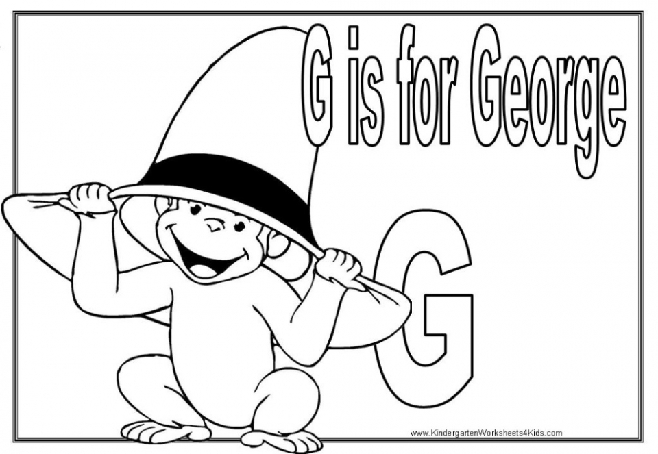 free printable coloring pages of curious george | 20+ Free Printable Curious George Coloring Pages ...