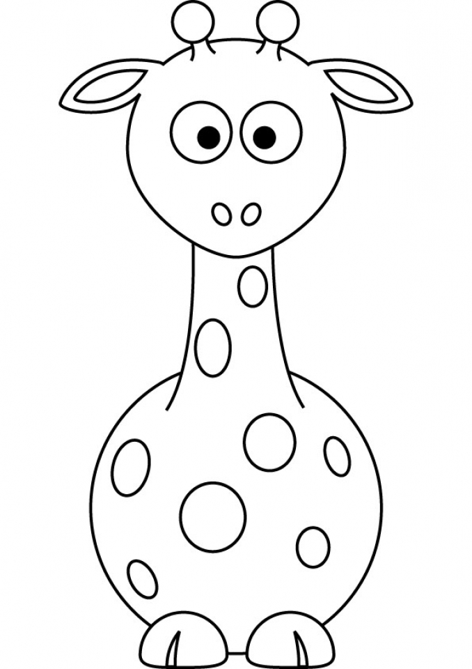 Cute Giraffe Coloring Pages for Preschool   07402