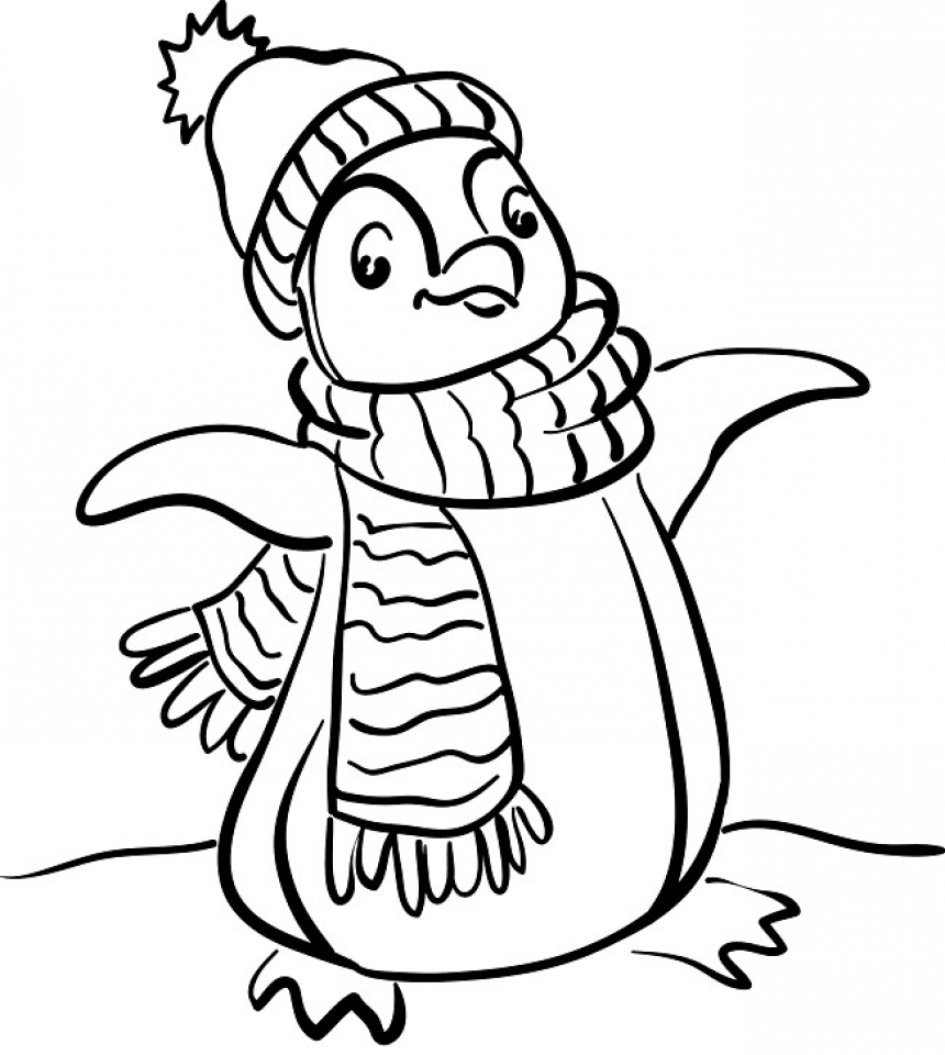 Cute Penguin Coloring Pages   53876