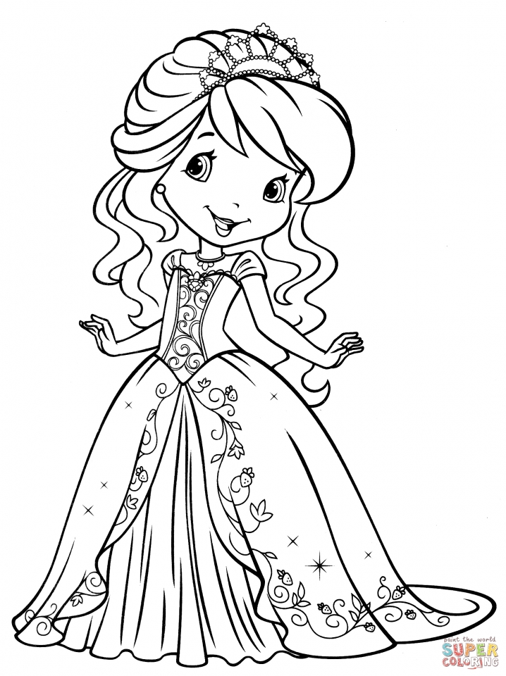 Cute Strawberry Shortcake Coloring Pages to Print   31523