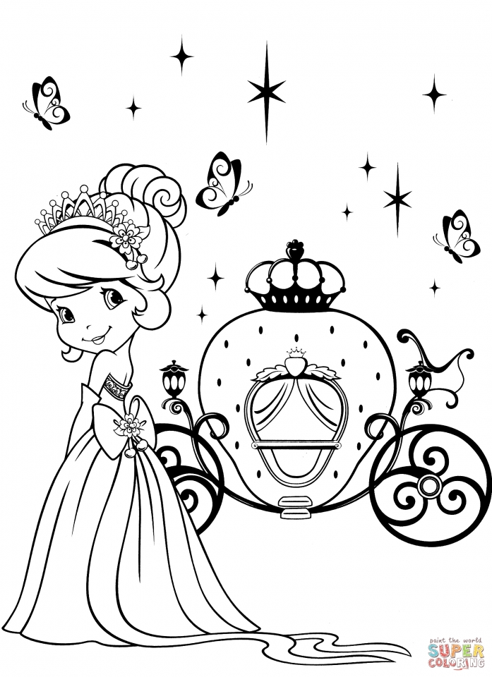 Cute Strawberry Shortcake Coloring Pages to Print   78461