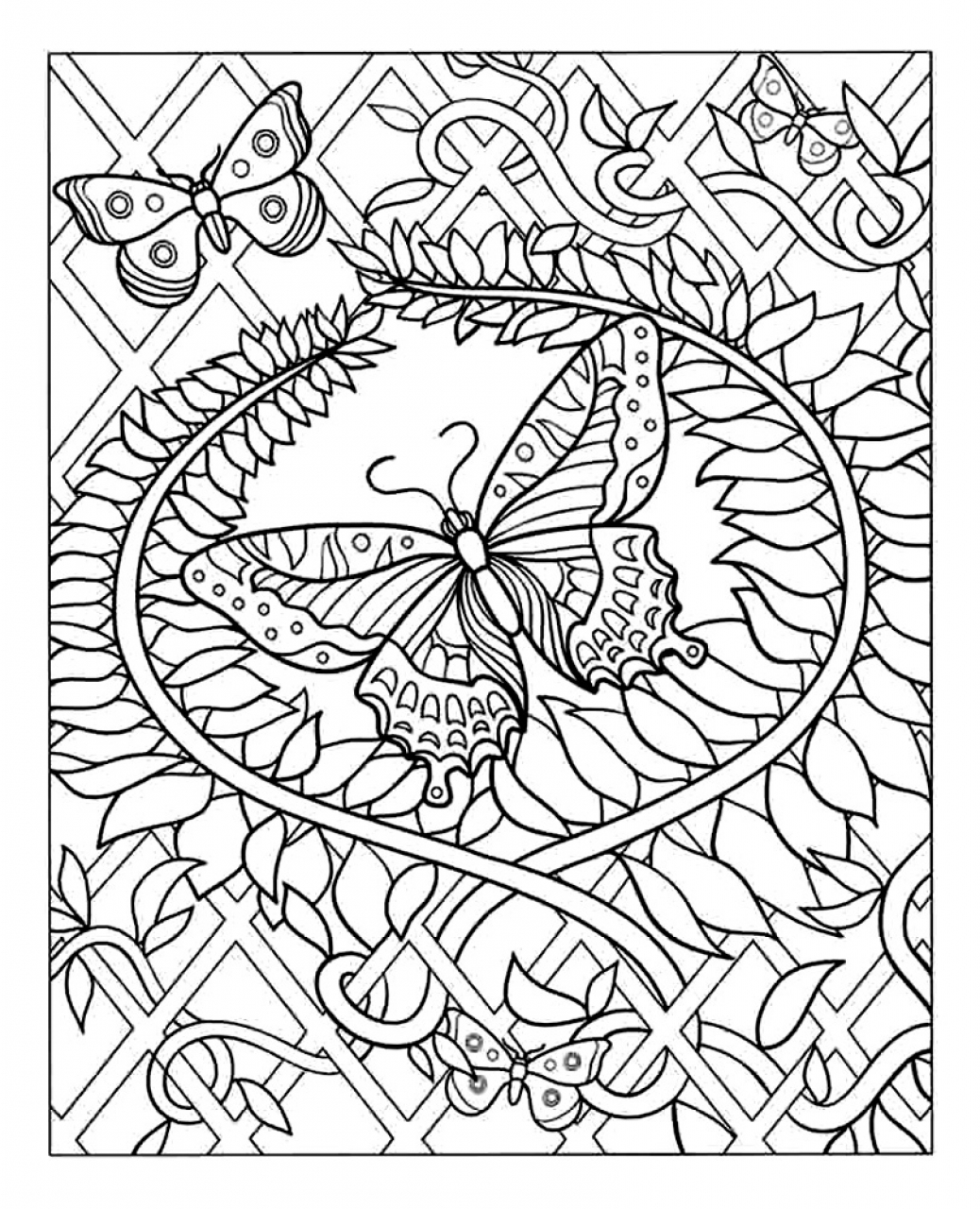 Difficult Adult Coloring Pages to Print Out   45281