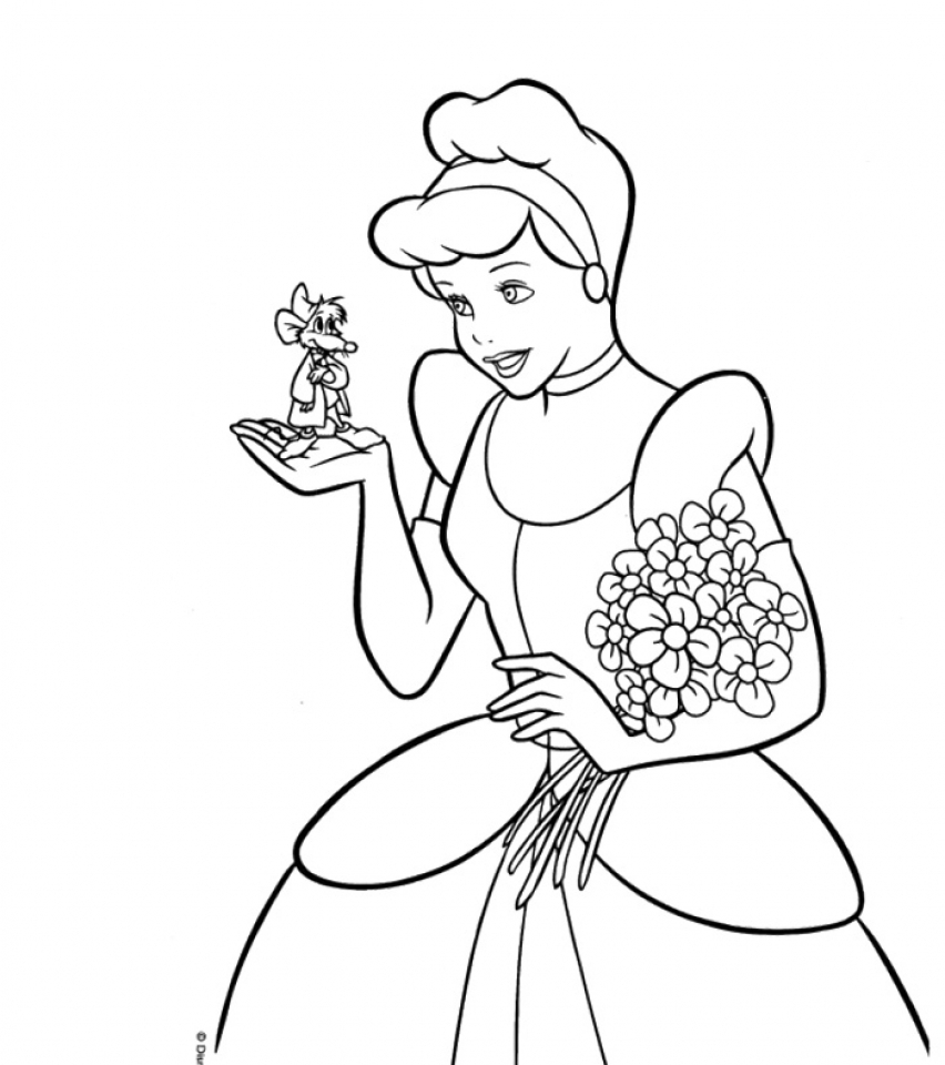 get this disney princess cinderella coloring pages