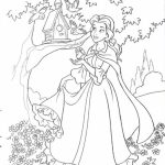 Disney Princess Coloring Pages of Belle for Girls   52617
