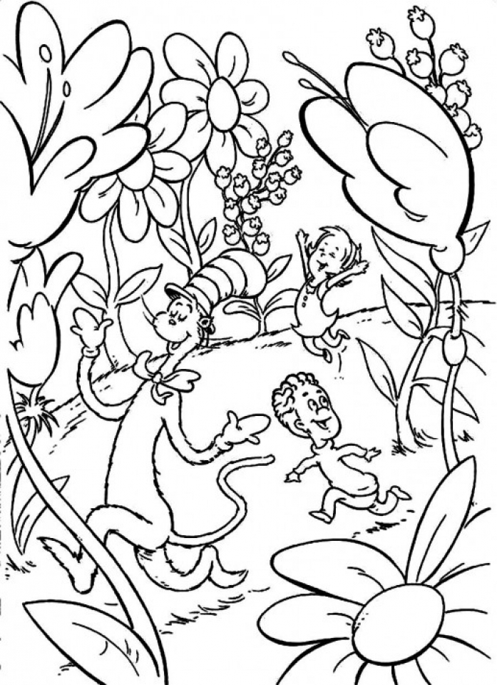 Dr Seuss Coloring Pages Free Printable   31486