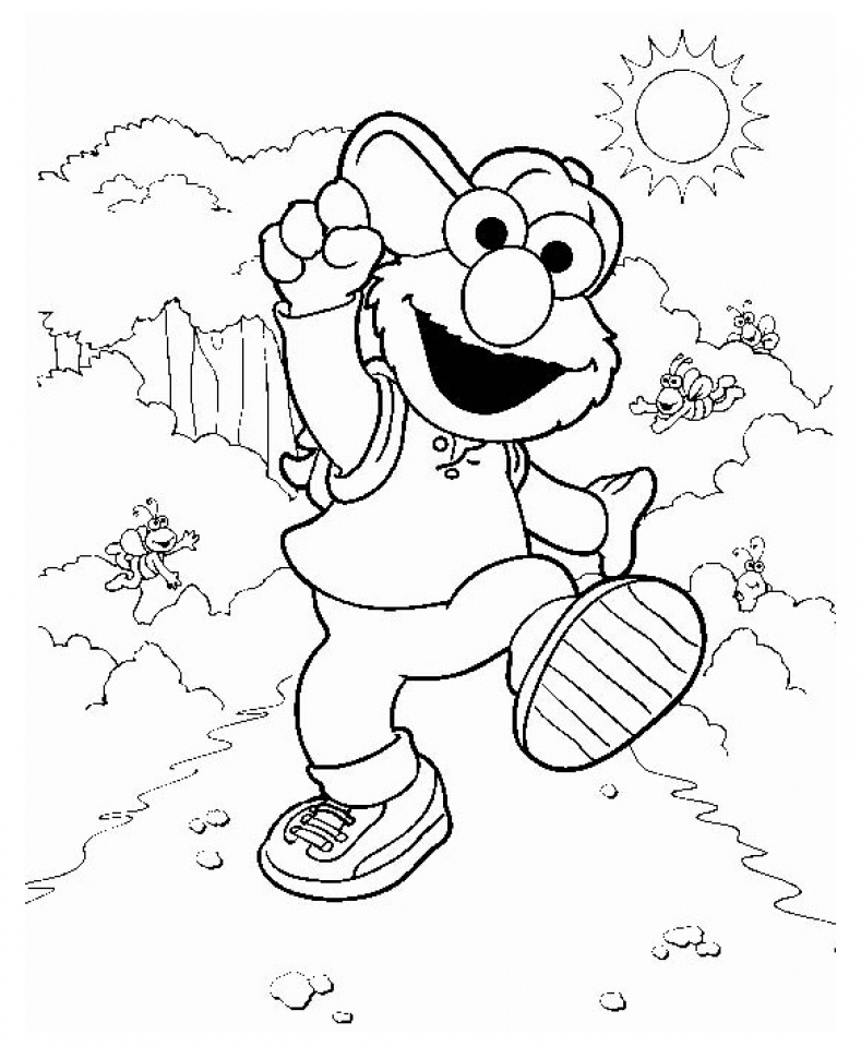 20+ Free Printable Elmo Coloring Pages - EverFreeColoring.com
