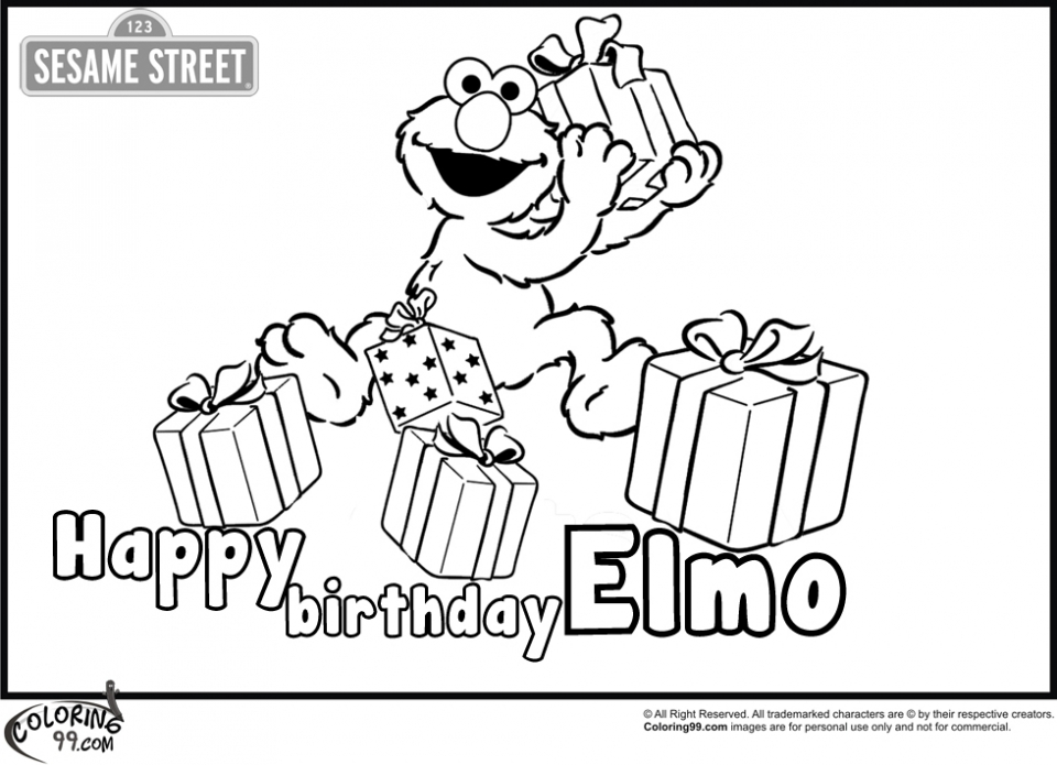 20 Free Printable Elmo Coloring Pages
