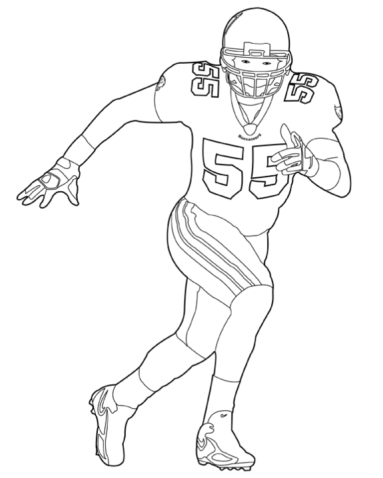 nfl player free colouring pages