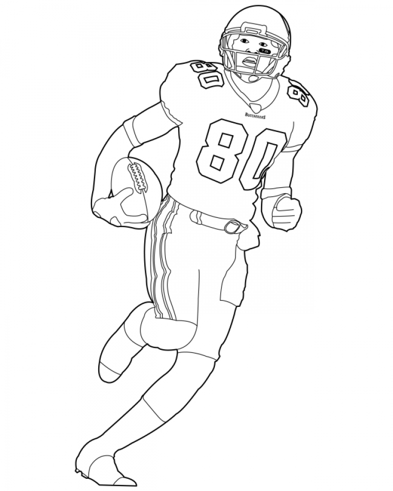 Get this football player coloring pages printable for kids for Football coloring pages for kids