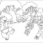 Free Barney Coloring Pages to Print for Kids   43781
