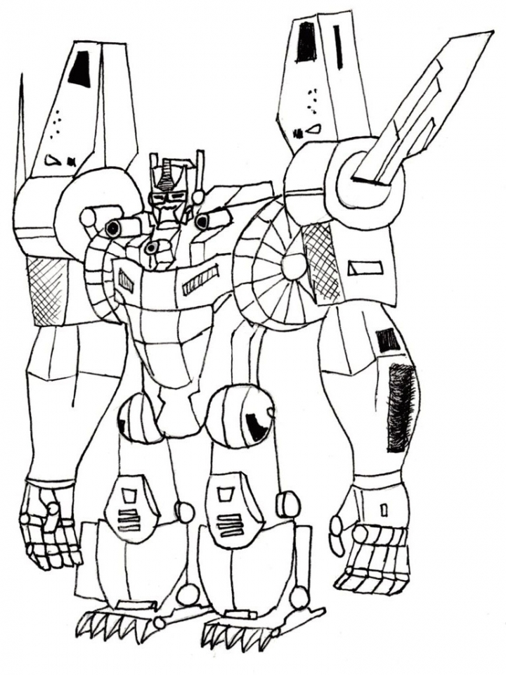 Free Boys Coloring Pages of Transformers Robot   65518