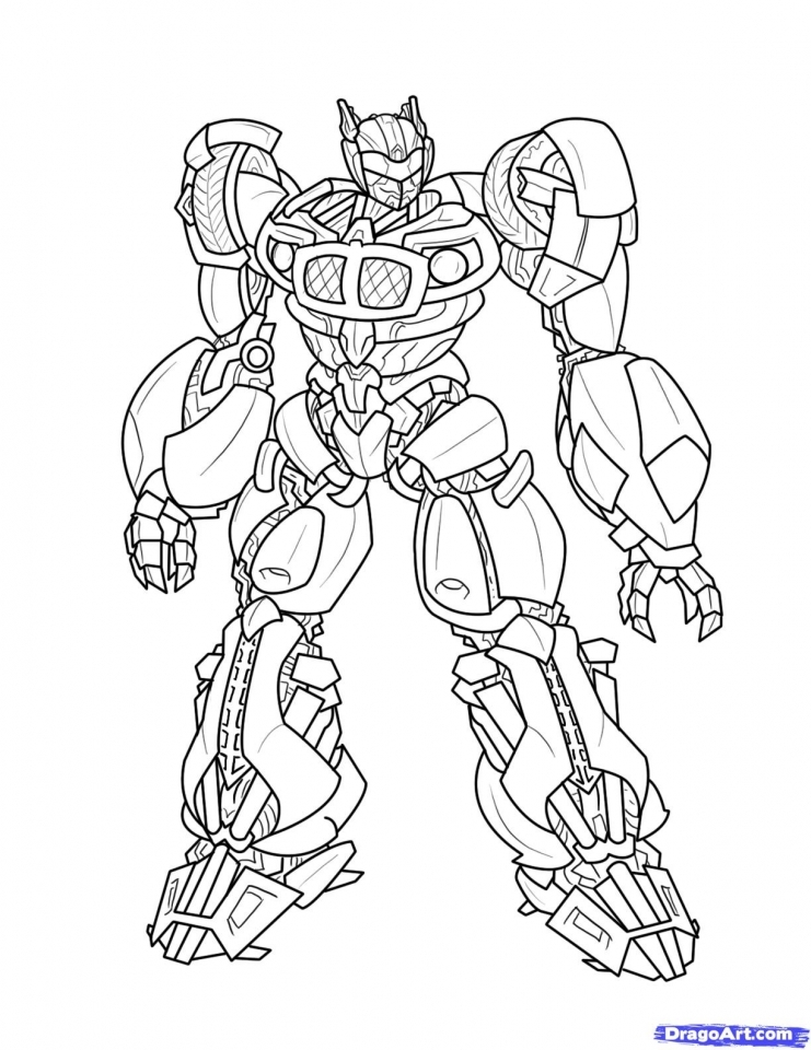 Get This Free Boys Coloring Pages Of Transformers Robot