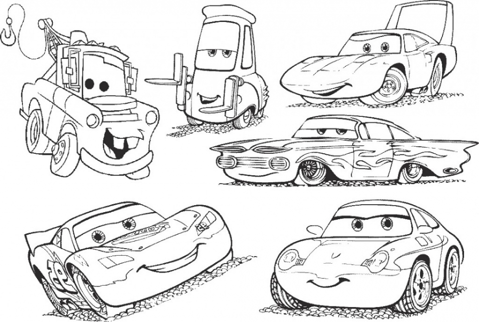 Gentil Disney Cars Coloring Pages