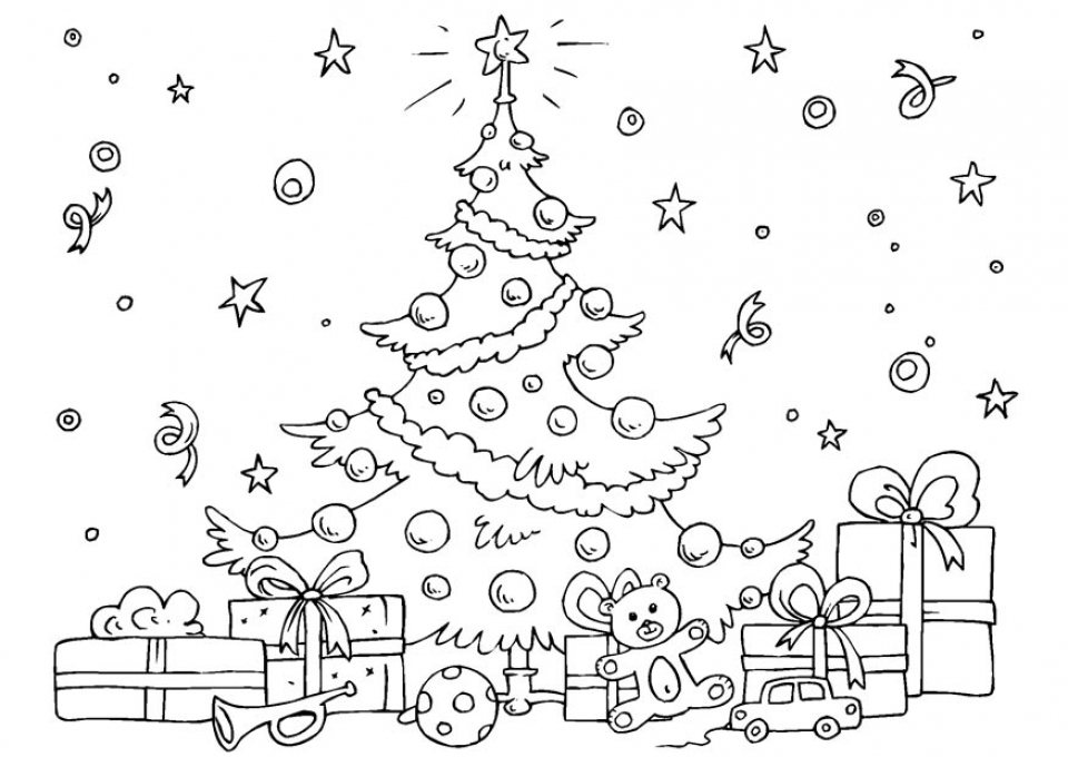 20+ Free Printable Christmas Tree Coloring Pages ...