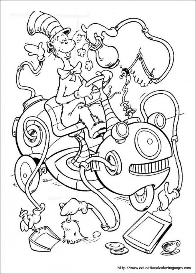 Free Dr Seuss Coloring Pages   49221