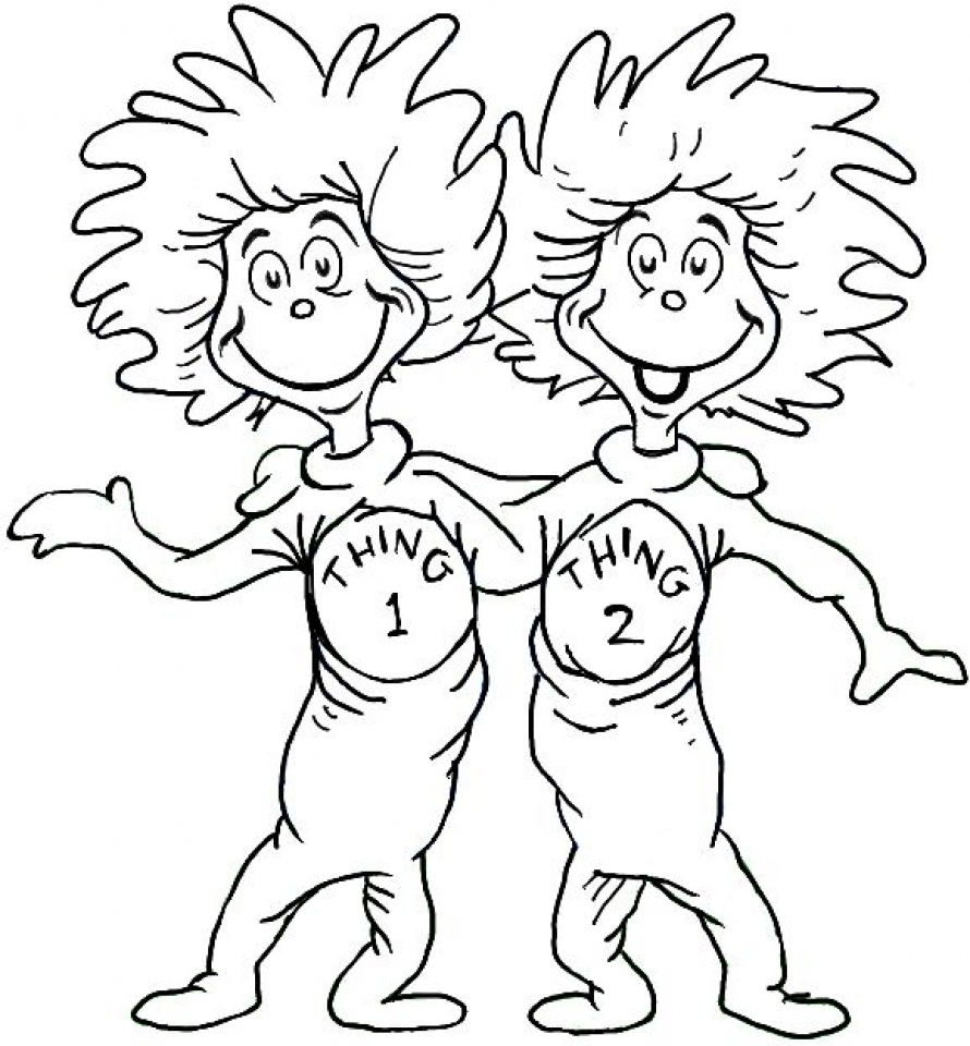 20 free printable dr seuss coloring pages for Dr seuss printable coloring pages