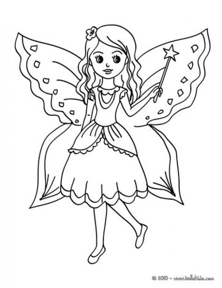 Free Fairy Coloring Pages   46290