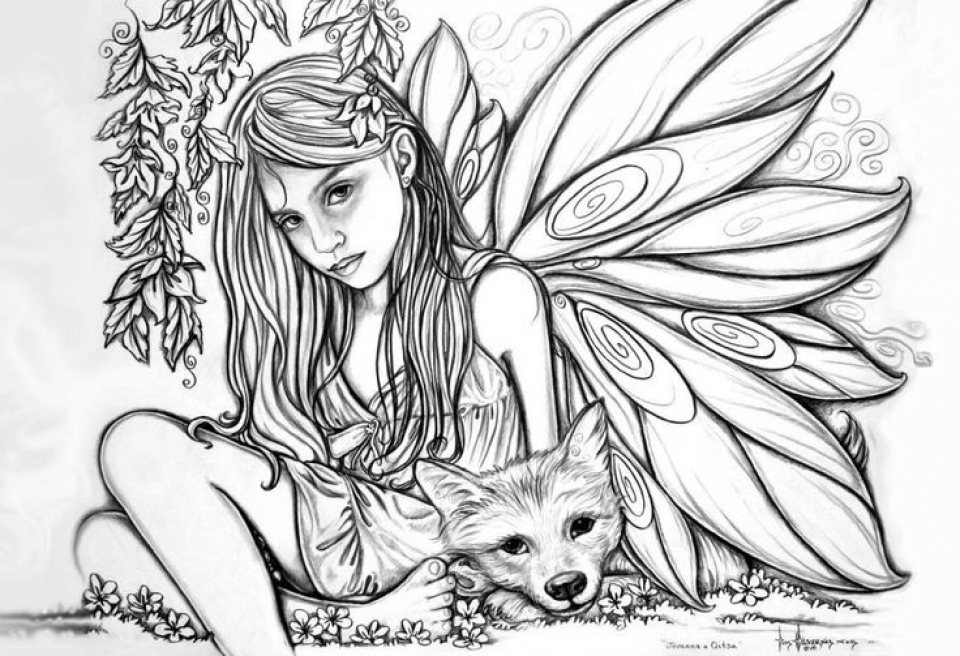 Free Fairy Coloring Pages   56952