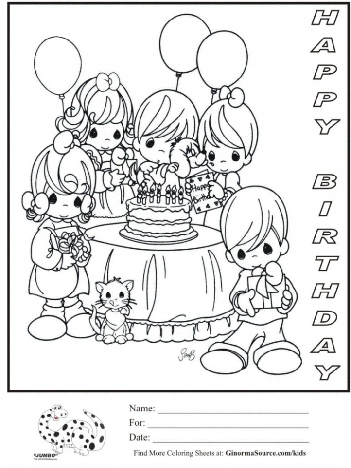Free Happy Birthday Coloring Pages to Print Out   12703