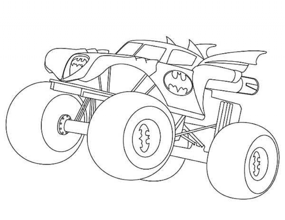 Free Monster Truck Coloring Pages   46303