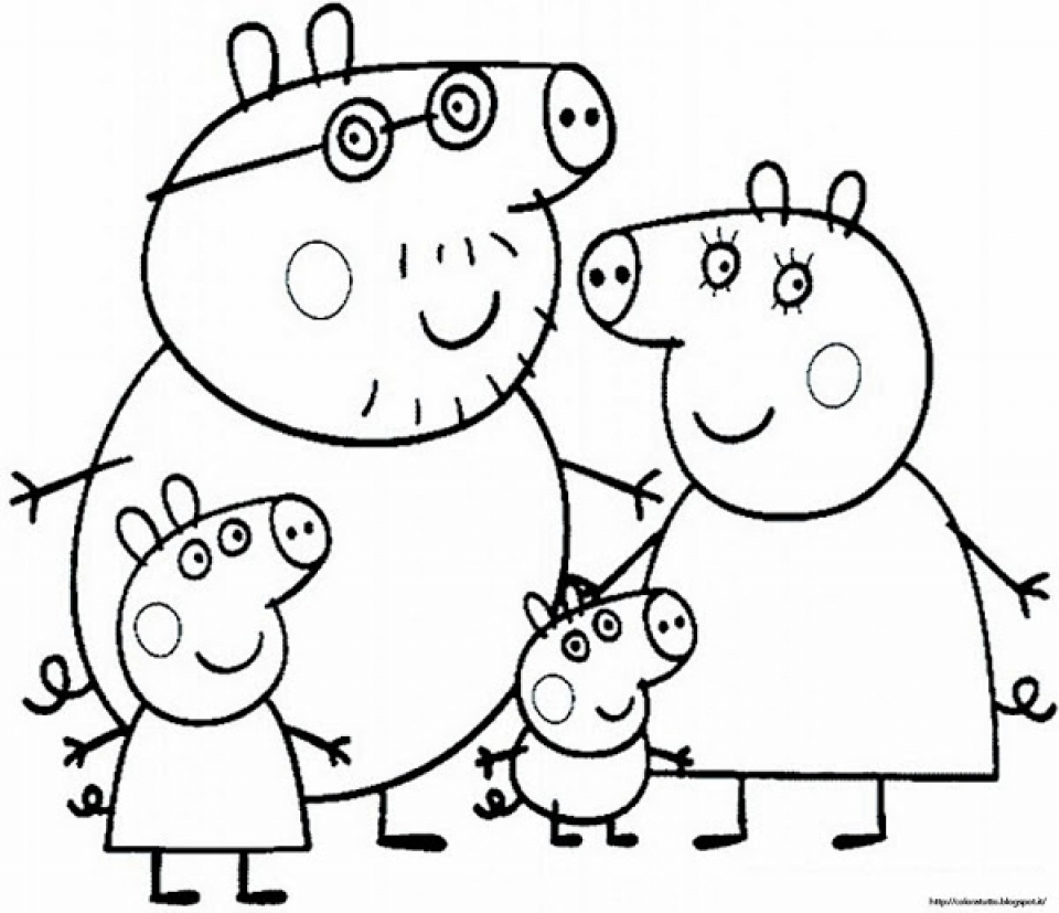 get this free peppa pig coloring pages to print 83895 ! - Peppa Pig Coloring Pages Print