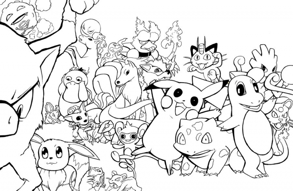 Free Pokemon Coloring Page to Print   7867