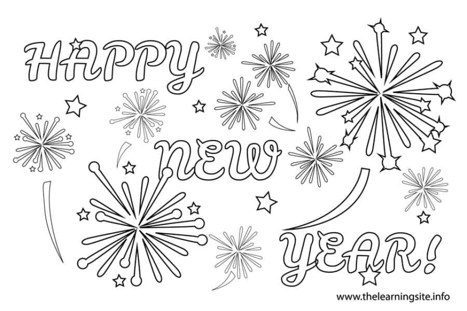 Free Printable New Years Coloring Pages Online   77401