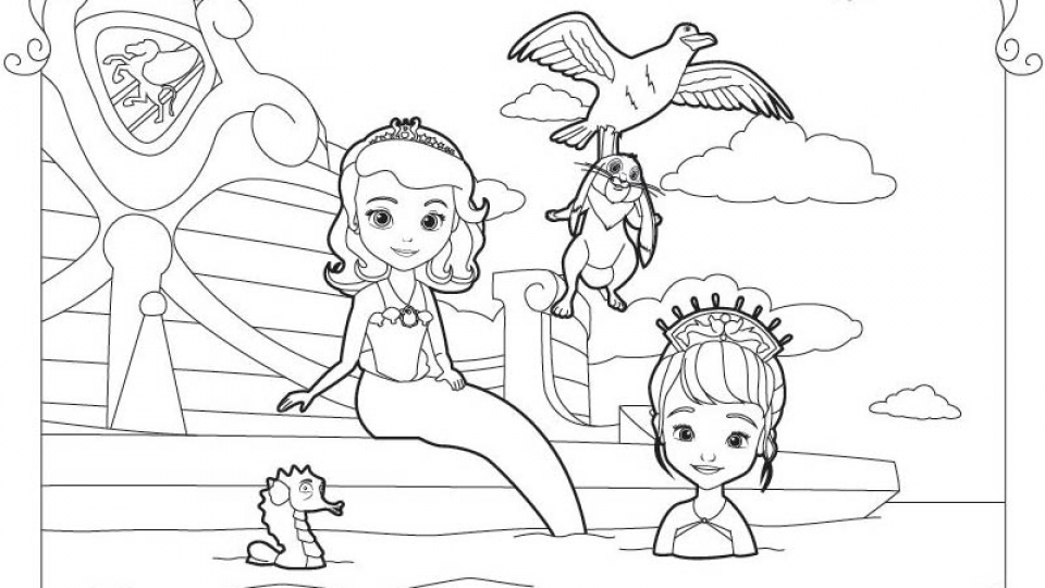 Get This Free Sofia The First Coloring Pages 68320