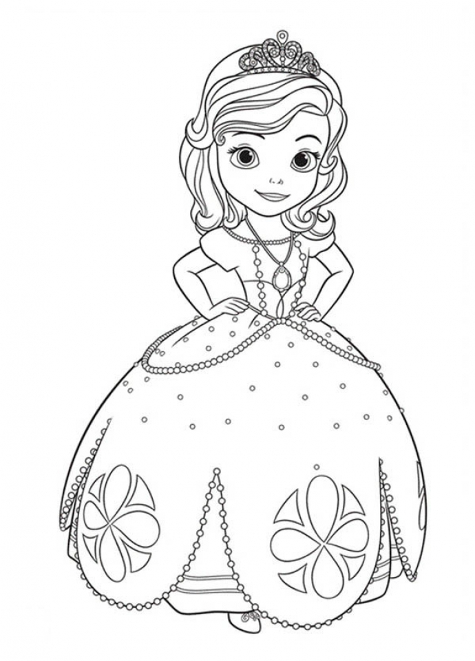 Free Sofia the First Coloring Pages to Print   61794