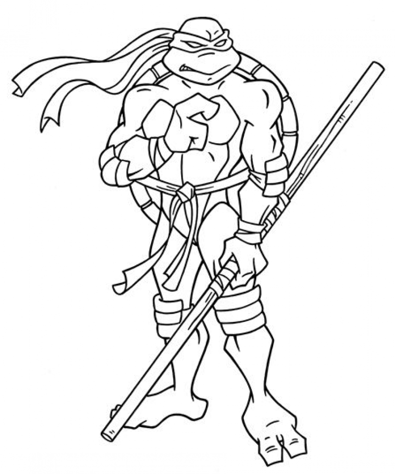 Get This Free Teenage Mutant Ninja Turtles Coloring Pages ...