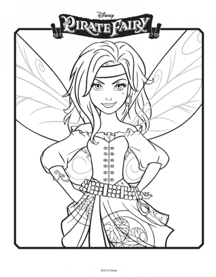 Get This Free Tinkerbell Coloring Pages To Print 75119